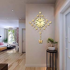 Moderno reloj de pared grande decoración para el hogar para salón o dormitorio: Amazon.es: Hogar