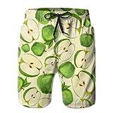 Men's Green Apples Fruit Leaves Summer Quick-drying Swim - Best Reviews Guide