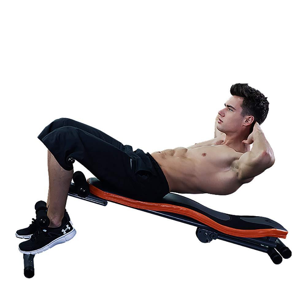 HECHEN Multifuncional S-Type Supino Junta-Masculino Deportes Fitness Equipo Hogar Pesas Banco Abdominal Junta, Push-Up Polo, Transpirable Cuero, ...