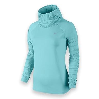Nike Womens Element Hoodie - Medium - Copa/Reflective Silver