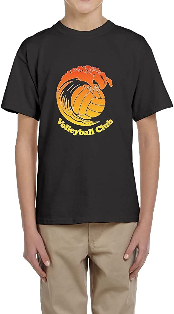 Fzjy Wnx Short-Sleeved T-Shirt Youth Crew-Neck Volleyball and Beach for Boys