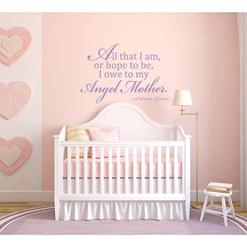 CustomVinylDecor Mom Quotes Wall Decal - Abraham Lincoln