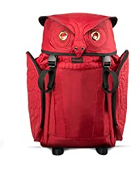 Darling's Owl Multifunctional Travel Backpack with Security Pocket - Large - Red