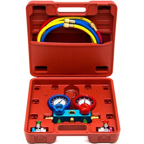 Biltek NEW Professional A/C Air Conditioner Refrigerant Manifold Gauge Kit Set R134a HVAC