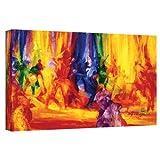 ArtWall Iribhogbe-b-001-24x48-w Bayo Iribhogbe 'Dance 1, 2000' Gallery-Wrapped Canvas Artwork, 24 by 48-Inch