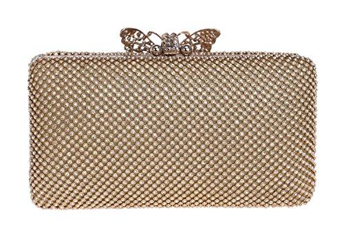 Diamante Prom Gift Gold Handbag Ladies Women Clubs Shoulder Wedding Party Bag Purse Glitter For Evening Clutch Antique Bag Bridal gW1UTY