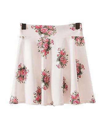 KasenA Mujeres Vintage A-Line Faldas Acampanada Cintura Alta Falda ...