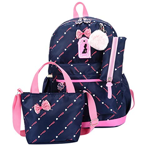 Summer May Deals!DDKK bags Three-Piece School Bag Canvas Backpack-Lightweight Teen Girls Bookbags Insulated Lunch Bag-Patterned Bookbag Laptop School Backpack-Travel Backpack Tote Bag -