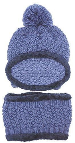 b1288cf5a2df6 Galleon - 3-Pieces Winter Hat Scarf Mask Set Thick Knit Hat Warm Snow Ski  Skull Cap For Men Women
