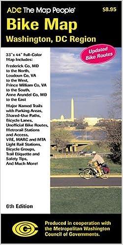 Bike Map Washington DC Region the Map People ADC 9780875304274