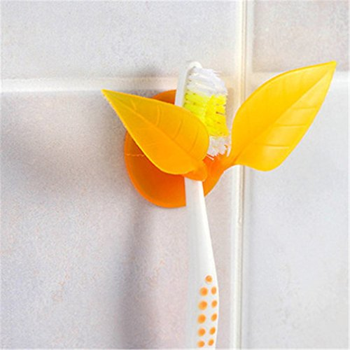 Multifunctional Toothbrush Holder Suction Cup Leaves Styling