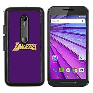Púrpura Laker- Metal de aluminio y de plástico duro Caja del teléfono - Negro - Motorola Moto G (3rd gen) / G3