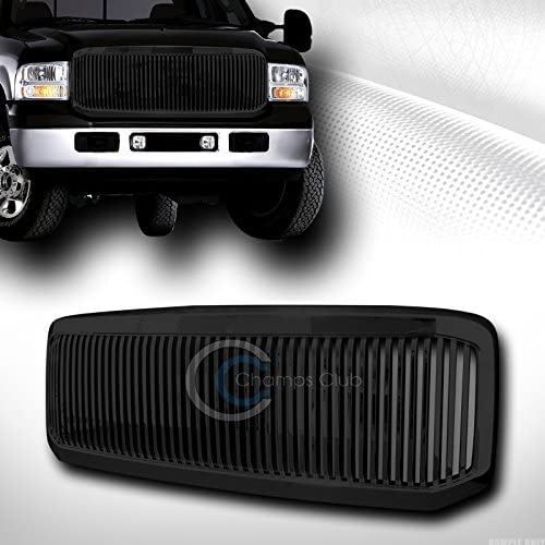 S /& T RACING INC BLK Vertical Front Hood Bumper Grill Grille Cover ABS Compatible with 05-07 F250//F350 Super Duty