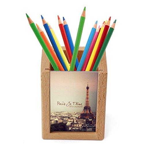Executive Pencil Holder Wood - 6