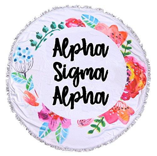 Alpha Sigma Alpha - Fringe Towel - (Alpha Blanket)