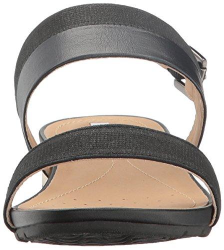 Geox D Formosa C, Sandales Bout Ouvert Femme Noir (BLACKC9999)