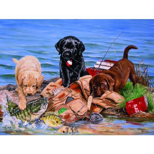 Three Little Fisherman 500 pc Jigsaw Puzzle