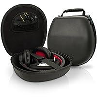 iGadgitz Black EVA Funda rígida de transporte para auriculares Auriculares (Sony, Philips, Pioneer, Sennheiser, Marshall, Shure, Beats, Bose y más) - Tamaño interno aprox. 21.5 x 20.5cm