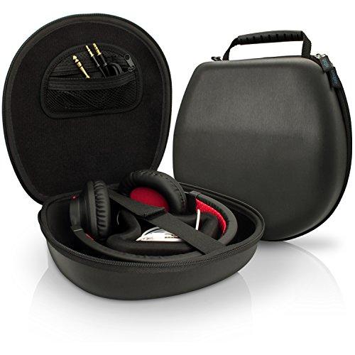 (iGadgitz Black EVA Carrying Hard Case Cover for Headphones Headset (Sony, Philips, Pioneer, Sennheiser, Marshall, Shure, Beats, Bose & more) – Internal size approx. 21.5 x 20.5cm)
