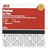 12 each: Ace Pleated Furnace Air Filter (4804011818)