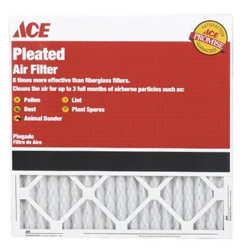 12 each: Ace Pleated Furnace Air Filter (4804011818)