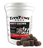 Five Paws Essential Vitamins for Dogs with Glucosamine Chondroitin & MSM Daily Vitamin with Excellent Joint and Mobility Support Low Dosage 2 Plus Months Supply/60 Count