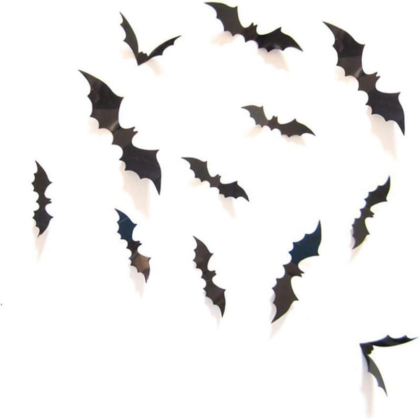 MXXGMYJ Halloween Party Decorative Supplies 3D Bat Decorations Decal Wall Window Décor Sticker for Home Office 24Pcs