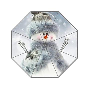 Muñeco de nieve personalizado paraguas resistente a los rayos UV paraguas personalizados de la de los