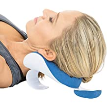 Vive Neck Support Relaxer - Shoulder Chiropractic Pillow Traction Stretcher Device - Cervical Spine Relieve, Neckbone Muscle Tension Reliever - Pressure Relief, Stiff Chronic Pain, Disc Alignment