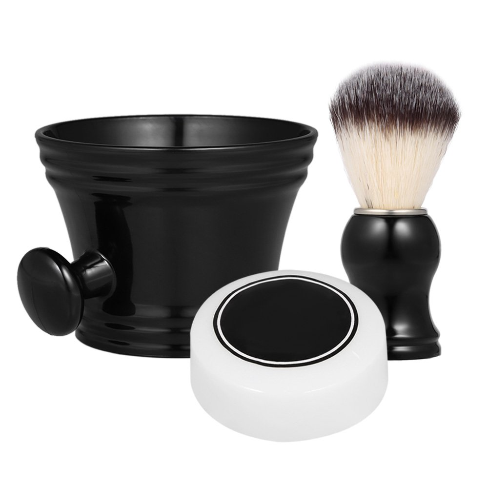 Anself Shaving Set Beard Shaving Tools Shaving Mug Bowl Shaving Brush Home Barber's Traditional Shaving Kit W5203-AWJBRK