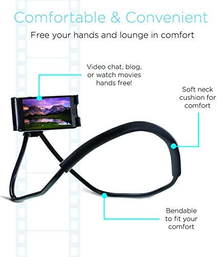 Aduro Phone Neck Holder, Gooseneck Lazy Neck Phone Mount to Free Your Hands for iPhone Android Smartphone 51YPNe95ahL