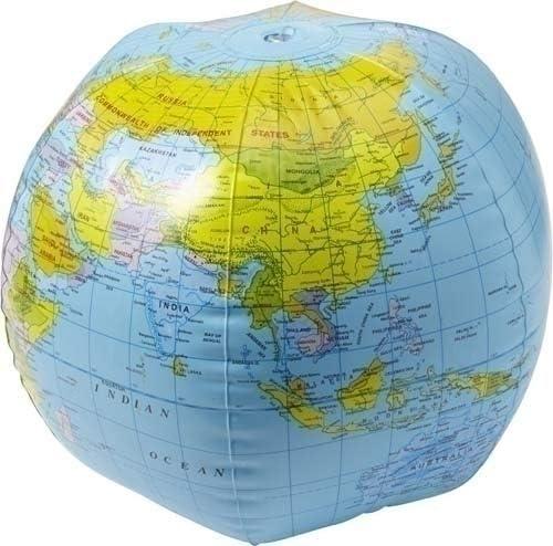 hinchable Agua Ball globo terráqueo: Amazon.es: Oficina y papelería