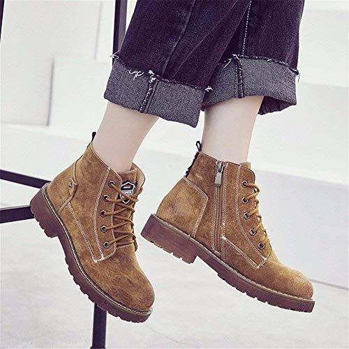 E 37 Pu Cross Otoño Retro Boots Deed Informales Color Invierno La De Sra Eu Zapatillas En Straps qwzRnZxO