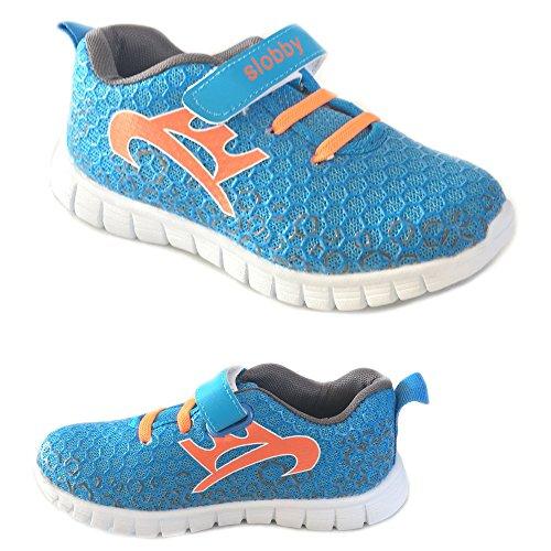 Slobby Kinder Sportschuh Sneaker Freizeitschuh veschiedene Farben NEU Blau / Orange 29