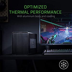 Razer Core X: Thunderbolt 3 External Graphics Enclosure (eGPU) for Windows 10 and Mac External Graphics Laptops