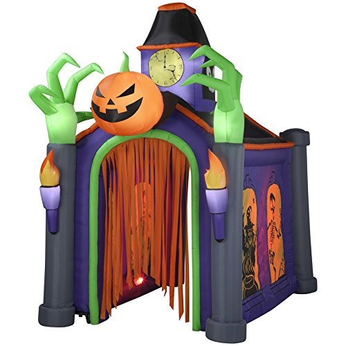gemmy indooroutdoor halloween animatronic lighted musical haunted house inflatable holiday decoration by gemmy