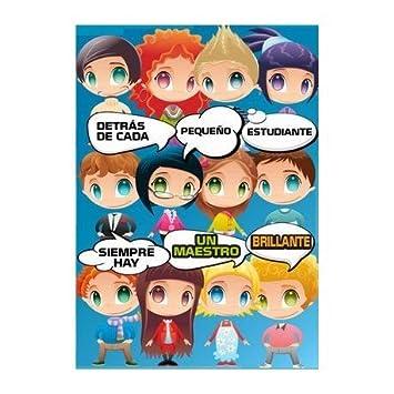 PROFESOR Tarjeta Maestro niños 20x30 cm Super