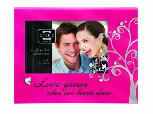 "Prinz 6 by 4-Inch Love Affair Pink Frame ""Love Grows"""