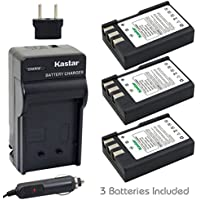 Kastar Battery (3-Pack) and Charger Kit for Nikon EN-EL9, EN-EL9a, MH-23 work with Nikon D3000, D5000, D40, D60, D40X SLR Cameras