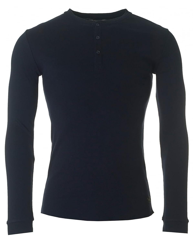Edwin Herren Longsleeved Oarsman Henley T-Shirt, Blau