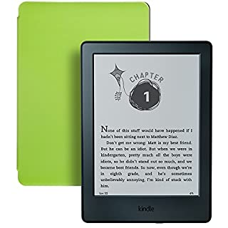 Kindle for Kids Bundle with Kindle E-reader 8th Generation, 2-Year Worry-Free Guarantee, Green Cover