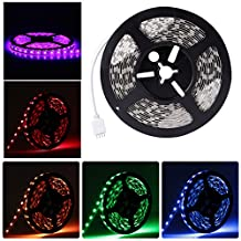 LEDMO Flexible LED Light Strip kit,16.4Ft 5M Non-waterproof 300LEDs RGB Color Changing LED Strip Light + 44Key IR RGB Remote Controller