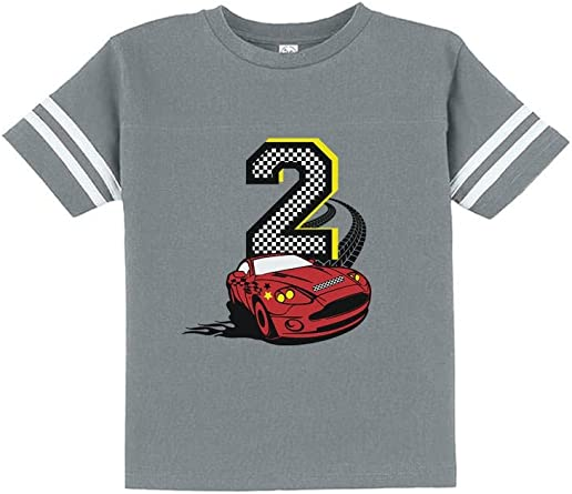 2nd Birthday 2 Year Old Boy Race Car Party Toddler//Kids Long sleeve T-Shirt Two