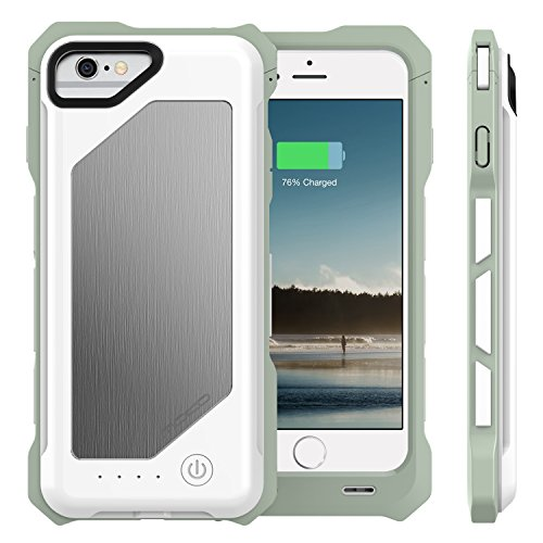 MoKo iPhone 7 6s 6 Battery condition compact 3500mAh blown Protective Charger Charging condition by mean of  detachable Rechargeable electrica Cover for iPhone 7 6s 6 47 MFI Apple Certified WHITE Battery Charger Cases