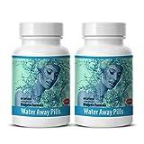 Diuretic water pills natural - WATER AWAY PILLS (Diuretic Formula) - Green tea pills - 2 Bottles 120 Capsules