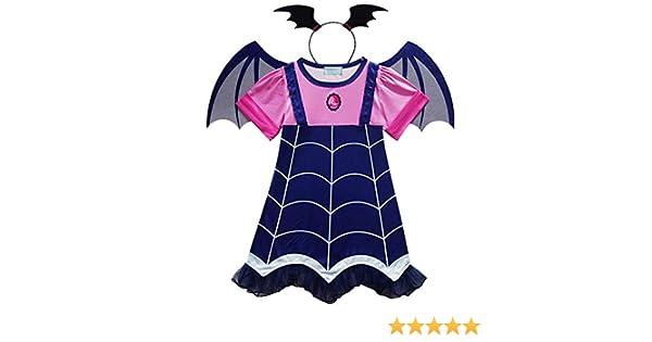 Dollar Store Disfraz de Vampirina Infantil de Niña con Diadema y ...