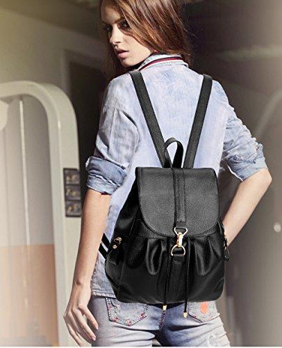 donna in Borsa da nera sintetica pelle a viaggio con spalla casual viaggio per Borsa da tracolla a 8rwgxTqIRw