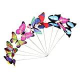 Colorful Flying Butterfly on Stick Model Home Garden Lawn Ornament 12x7.5CM