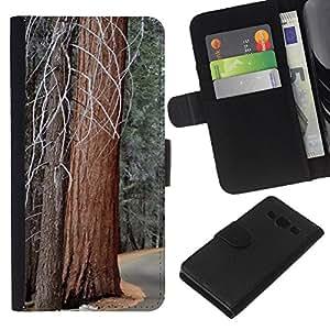 Stuss Case / Funda Carcasa PU de Cuero - Camino de la Libertad de invierno Vieja Naturaleza - Samsung Galaxy A3