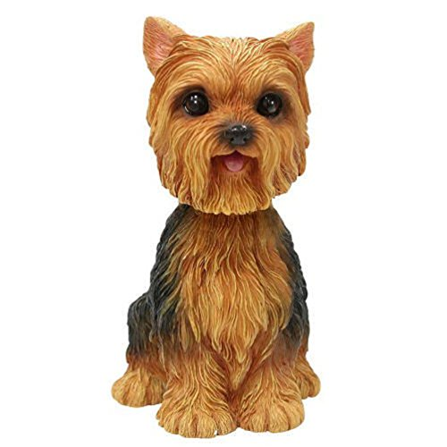 Dog Breed Store YORKSHIRE TERRIER PUPPY BOBBLE HEAD FIGURINE